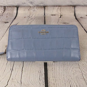 AUTHENTIC COACH Accordion Zip Wallet in Blue
